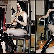 Rebekka's boot slave must lick, suck, and worship her beautiful boots to her exacting standards.