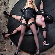 He is entirely at my mercy as I use him as my stress toy, with extreme pegging, face smothering and enforced milking