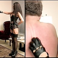 Mistress Sara Akeera is a fan of contemporary art work and her slave must adopt an artistic role in her presence. She decides to colour him with the c