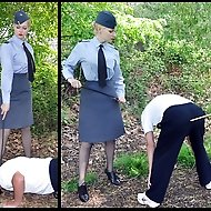 A slack airman needs some corrective treatment to bring him up to speed, nothing that a little humiliation in the great outdoors can't resolve.