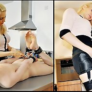 Mistress Eleise's slaveboy has not been performing his domestic chores to her satisfaction. He needs to be taught a lesson and his reeducation st