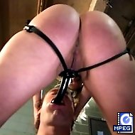 Strong Mistress punishes her bitchboy